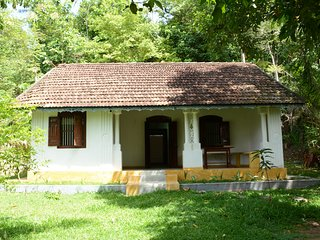 the cottage is antique style and decorated in a minimalist