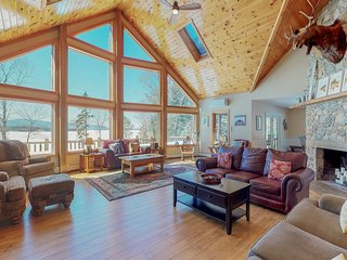 Lakefront home w/ wraparound deck & game room - dogs welcome
