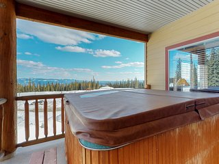 Roomy condo w/ private hot tub & ski-in/out access - convenient location.