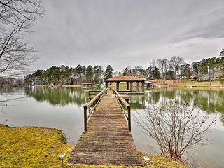 NEW! Lake Norman Home w/Boat Dock, Deck & Fire Pit
