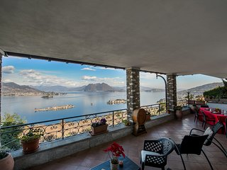 Panorama apartment in panoramic position over Stresa with amazing lake view