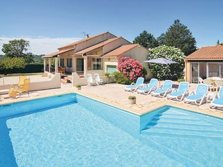 Nice home in St-Laurent-la-Vernède w/ WiFi and 4 Bedrooms