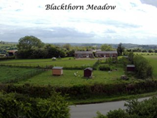 Arial View of Blackthorn Meadow showing both Blackthorn and Hawthorn Lodge and grounds.