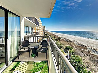Newly Renovated Sea Winds Condo w/ Oceanfront Balcony, Indoor Pool & Hot Tub