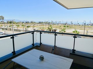 2 bedrooms & 2 bathrooms with balcony, sea, swimming pool & garden views (A3)