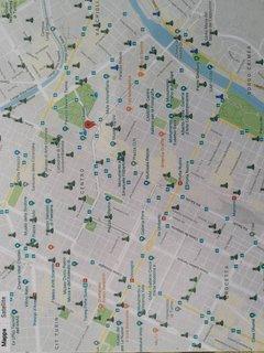 La mappa dei 'Toret 'in centro. Da queste fontane vi potrete dissetare con fresca acqua di montagna.