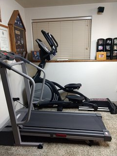 elliptical and treadmill for your use, if your are feeling energetic.. :)