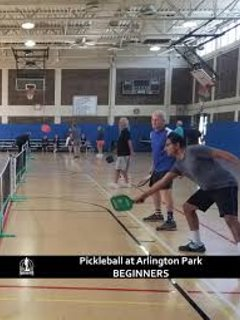 Pickleball and Jazzexercise in Arlington Park center