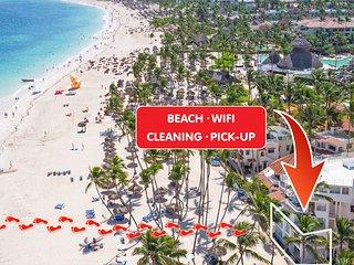 ★★★★★ Beach Front Condo 8 people Ocean View