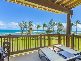 Kaha Lani Resort #224, Oceanfront, Sunrise Views, Walk to Lydgate Beach
