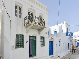 Amorgos traditional apt with balcony view