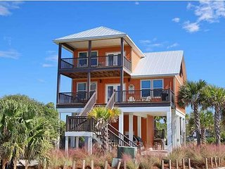 Luxury North Cape beach front home, steps to the sand, endless ocean view!