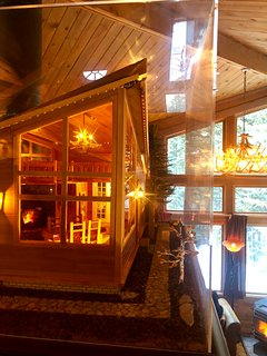 The MINI Cabin!  A near exact 1/12th scale model that took 400 hours to build.  Its AMAZING!