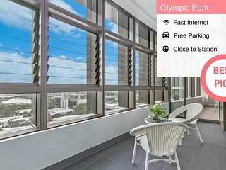 Olympic Park High Level View 2Bed2 Bath | Walk to ANZ stadium