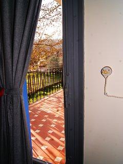 Suite Borgonya Vista desde la puerta de la terraza