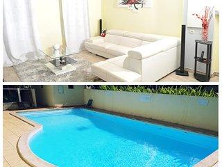 Appartement F3 tout confort avec piscine