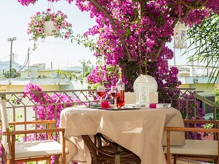 Bougainvillea house with view near the beach