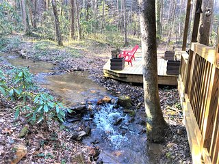 Bear Creek | Creek Front Cabin | 2BR 1BA | 1800 Ft From Downtown Helen, GA