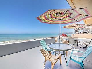 Stunning 3BR Oceanfront w/ Patio! Near San Clemente & Dana Point