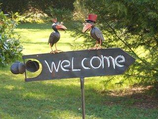 Panneau de bienvenue.