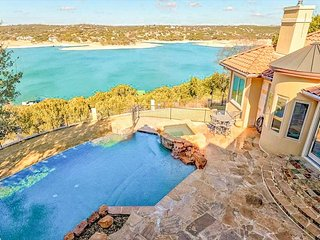 Luxe 4BR Lake Home w/ Theater, Infinity Pool, Hot Tub & Outdoor Kitchen