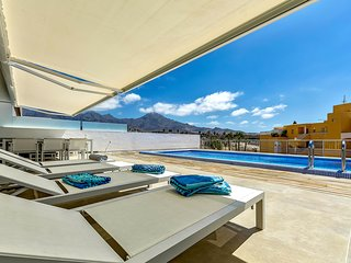 Luxury 2 bedrooms apartment in La Caleta Palm complex with private heated pool