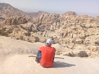 bed in desert