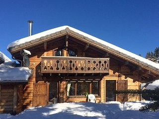 Chalet Sans Souci. On the Pistes - ski to the back door!
