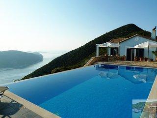 Lefkada Villa Panorama. Exceptional sea views - Infinity pool - air con.
