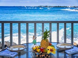 Oceanfront 2 bedroom ground floor condo with amazing Ocean Views
