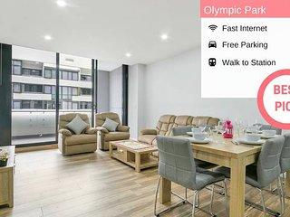 Kozy Olympic Park 2Bed APT + FREE PARKING NOP002-5