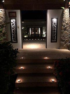 Outside the villa