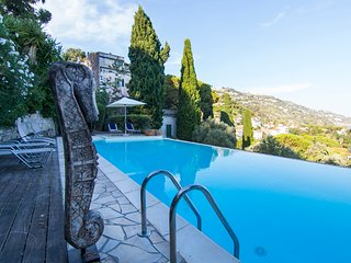 Villa Corinna is a luxury property on the border between Italy and France