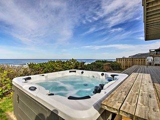 Oceanfront Lincoln City Home w/ Decks & Hot Tub!