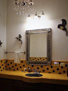 Large vanity in master bedroom bathroom