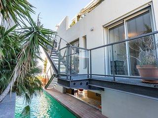 Le Penthouse, appartement haut de gamme avec piscine chauffée