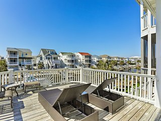 NEW! Canalfront Ocean Isle Home, 2 Blocks to Beach