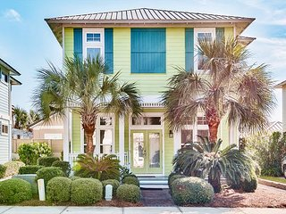 Miles Away: 4BR Getaway w/ Pool & Private Deck - Walk to Beach