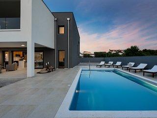 Modern Villa Roko, in Nin, with a Pool