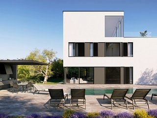 Modern Villa A, in Istria, with a Pool