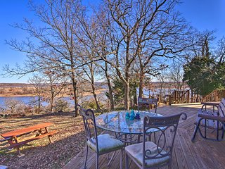 NEW! 20-Acre Waterfront Keystone Lake Home w/Trail