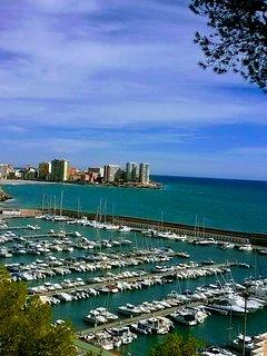 Playa de la Concha y puerto deportivo