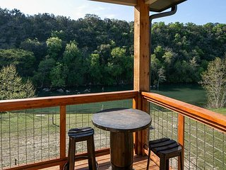 2 homes on River Road with private Guadalupe River access! Kayak-fire pits!