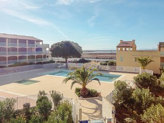 Amazing apartment in Gruissan w/ Outdoor swimming pool, 0 Bedrooms and Outdoor s