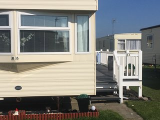 Static 2 bedroom Home from Home caravan. Ty Gwyn Caravan Park