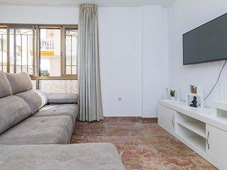 Torrox Costa-30m de la playa-wifi gratis-1 dormitorios+ sofa cama-vistas a playa