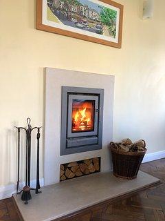 Log burner and central heating