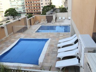 CaviRio - Flat Botafogo - pool, sauna, gym, parking and restaurant (PAR201)
