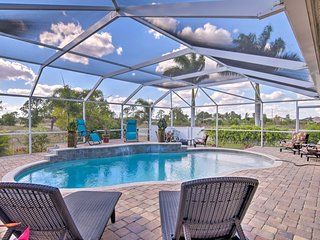 Cape Coral Home w/ AC, Pool, BBQ & Fire Pit!