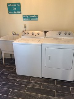 Laundry room, new washer and dryer 2017
